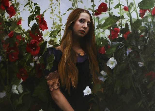 , 'Their Sanctuary Among the Hollyhocks,' 2015, JRB Art at The Elms
