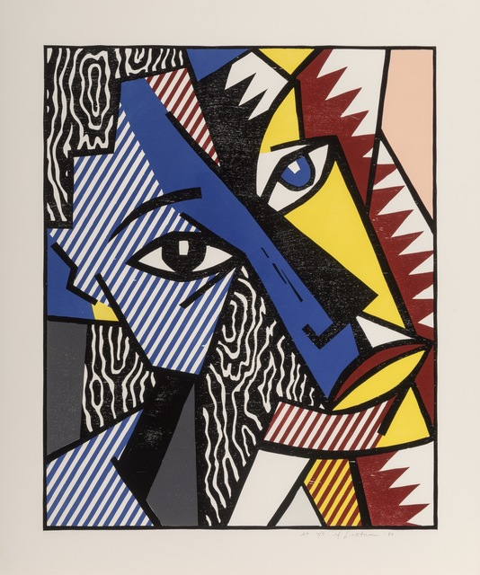 Roy Lichtenstein, 'Head, from Expressionist Woodcut Series', 1980, Print, Woodcut with embossing on Arches Cover paper, Fine Art Mia