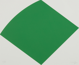 Ellsworth Kelly, 'Green Curve,' 1996, Phillips: Evening and Day Editions (October 2016)
