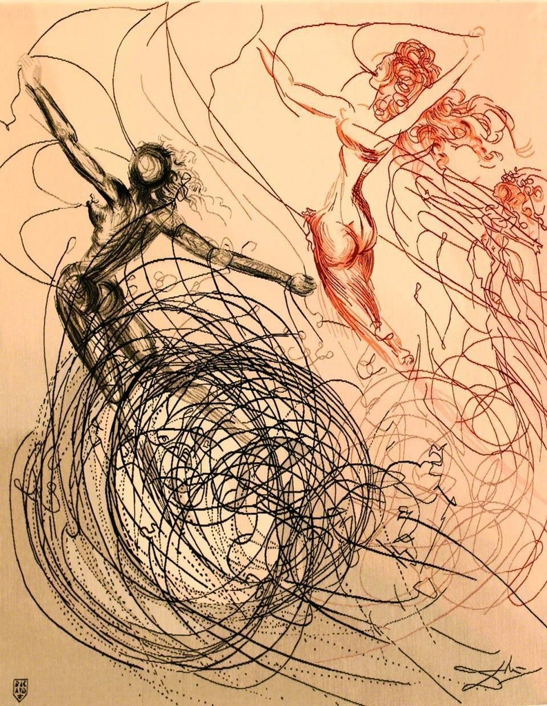 Salvador Dalí   The Hippies Suite: Woman in The Waves 1970-1971 ...
