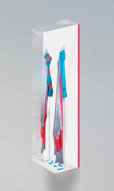 , 'Ribbon Gloves in Pink and Blue,' 2016, Galerie Hugues Charbonneau