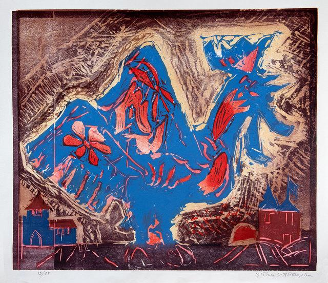 Michael Rothenstein, 'Flower Bird', 1991-1992, Print, Colour woodcut, Goldmark Gallery