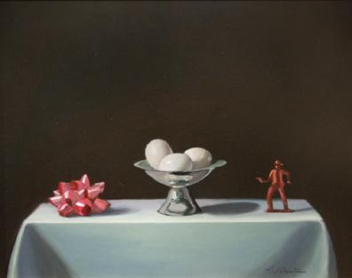 Neil Christensen, 'Bow, Eggs, Cowboy', 2008, Painting, Oil on panel, Kiechel Fine Art