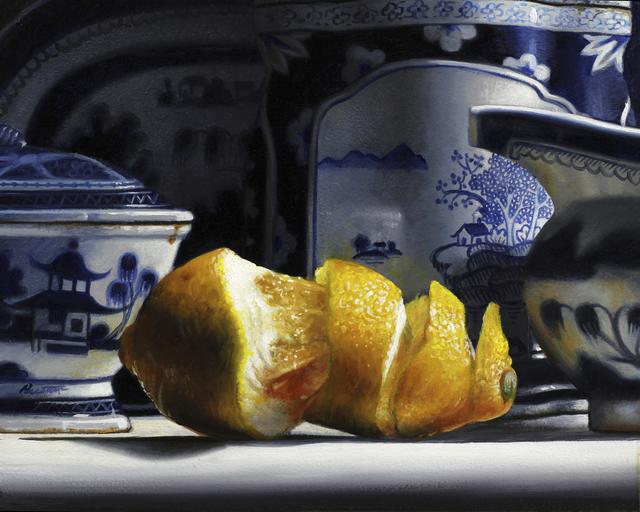 , 'Blue and White China with Lemon,' 2019, William Baczek Fine Arts