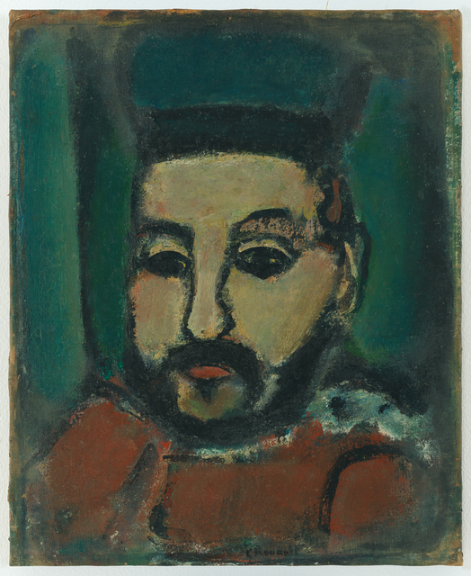 Georges Rouault, 'Le Juge (The Judge)', 1908-1913, Painting, Oil on paper on canvas, San Francisco Museum of Modern Art (SFMOMA)