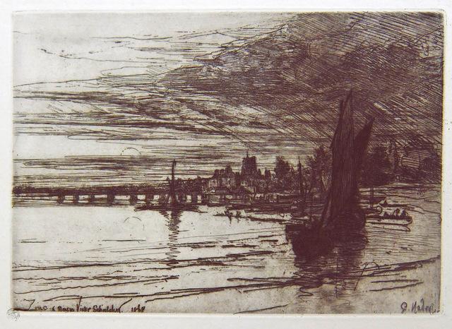 , 'Battersea Bridge,' 1868, Hans den Hollander Prints