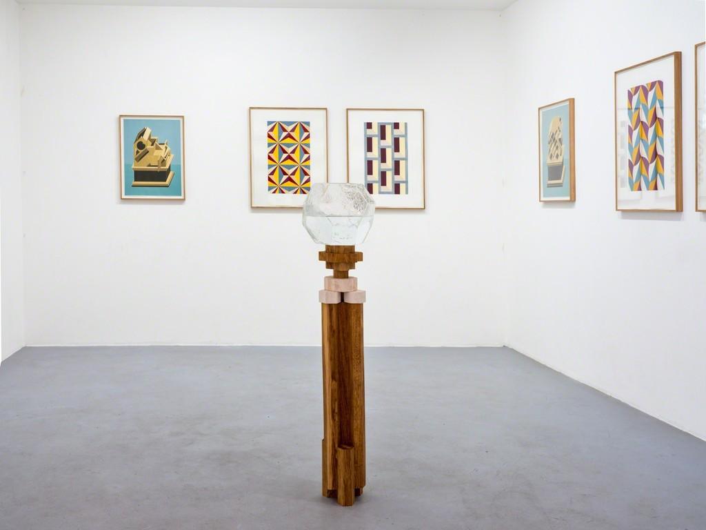 Raphaël Zarka, Monte Oliveto, exhibition view Courtesy of the artist and Michel Rein, Paris/Brussels, photo Florian Kleinnefen