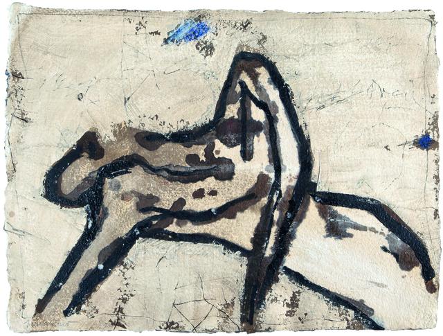 , 'Repos et bleu,' 2000, Galerie Capazza