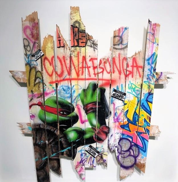 Onemizer, 'Cowabunga ', 2019, Galerie Montmartre