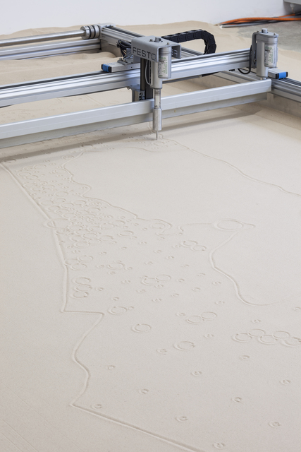 , 'The Country Sand Printer,' 2014, KW Institute for Contemporary Art