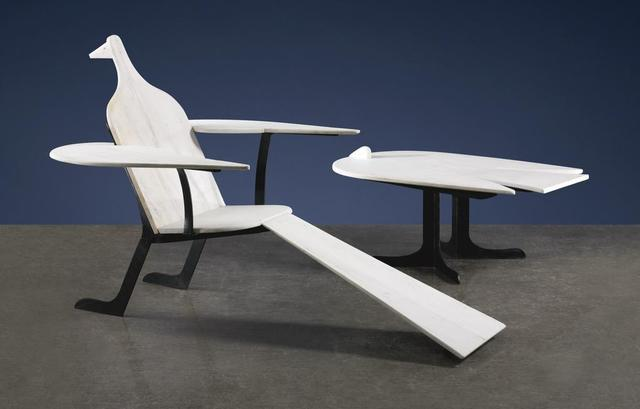 , 'Oiseau de Mabre Chair and Oiseau de Mabre Low Table,' 1974, David Benrimon Fine Art