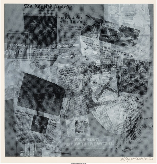Robert Rauschenberg, 'Surface Series from Currents, Your Heart', 1970, Print, Screenprint on wove paper, Heritage Auctions