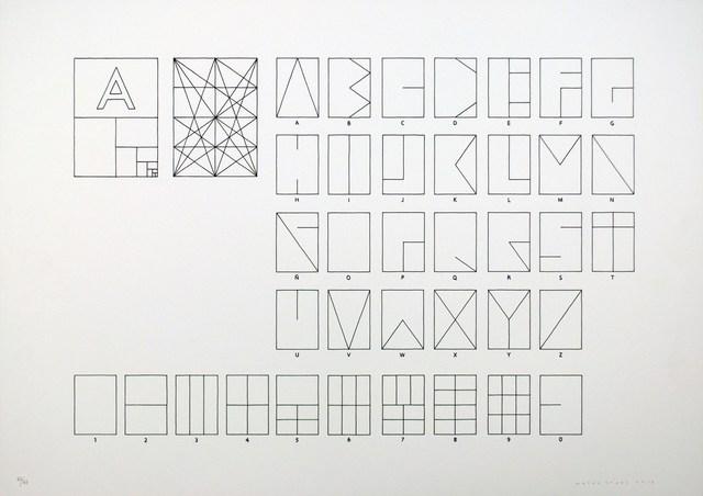 , 'Tipografía de papel,' 2012, Polígrafa Obra Gráfica