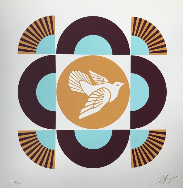 Shepard Fairey, 'Dove Geometric (white background)', 2018, Digard Auction