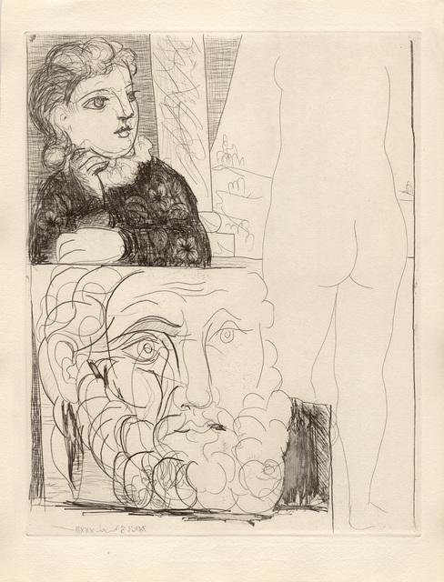 Pablo Picasso, 'La Bonne dans l'Atelier de Sculpture (S.V. 71)', 1933, Print, Etching, John Szoke