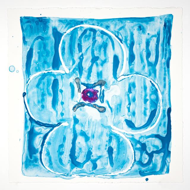 Judy Ledgerwood, 'Inner Vision: Blue + silver + Magenta', 2020, Print, Monotype, Manneken Press
