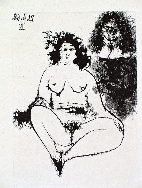 Pablo Picasso, 'Grosse Prostituée et Mousquetaire', 1968, Print, Etching and aquatint, Goldmark Gallery