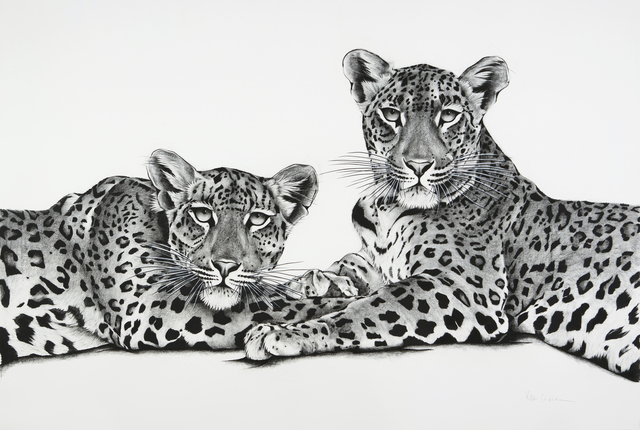 , '15. Jawai Leopards Mother and Cub,' 2018, Sladmore Contemporary