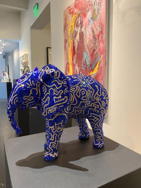 , 'Elephant Royalty feat. Haring,' 2019, Samuel Lynne Galleries