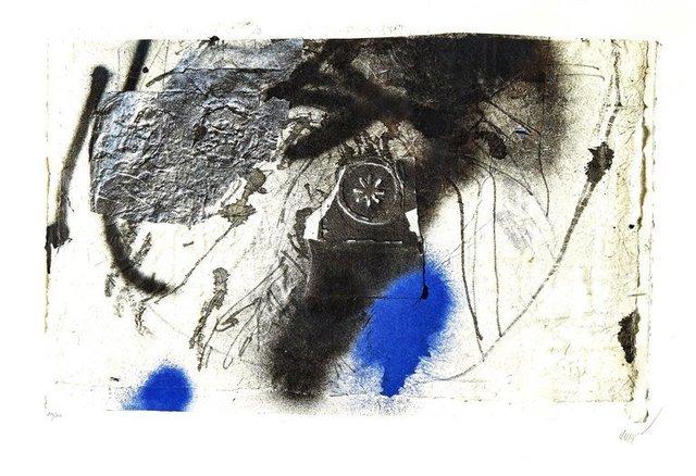 "Antoni Clavé, 'Original Lithograph ""Blue Abstract Composition"" by Antoni Clavé', Circa 1946, Galerie Philia"