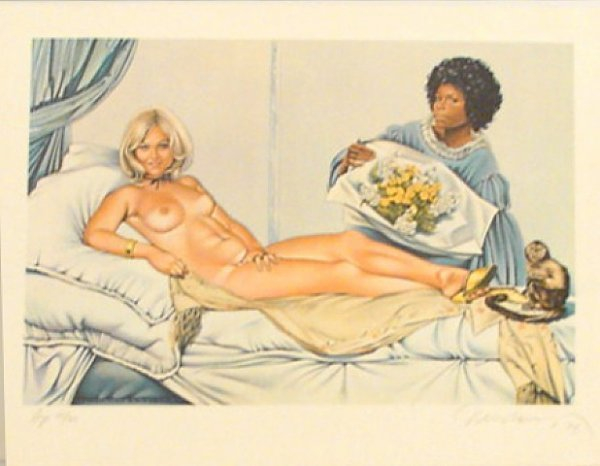 , 'Manet's Olympia,' 1974, David Lawrence Gallery