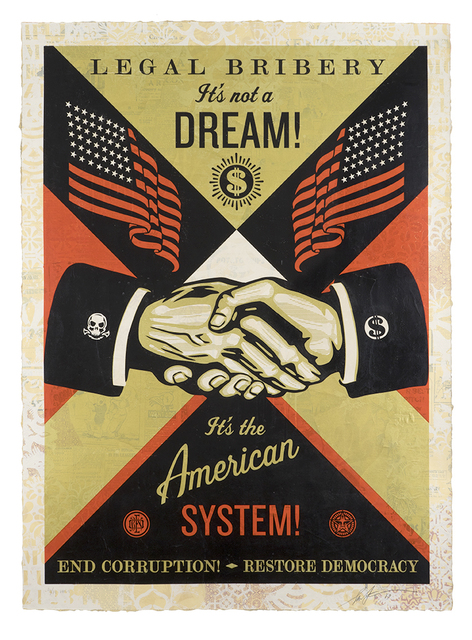 Shepard Fairey, 'End Corruption', 2019, Samuel Owen Gallery