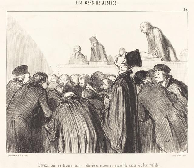 Honoré Daumier, 'L'Avocat que se trouve mal', 1846, National Gallery of Art, Washington, D.C.