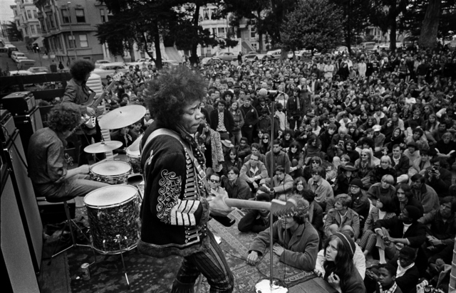 , 'Jimi Hendrix Playing a Free Concert in Panhandle, San Francisco, 1967,' 2017, ACA Galleries