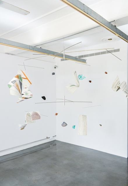 Raul Walch, 'Keeping Together in Time', 2021, Mixed Media, Mobile. Aluminium, tubes, metal thread, non-woven fabric, earth pigments, acrylic, found footage, stones, minerals, Aki Gallery