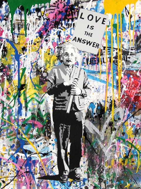 Mr. Brainwash, 'Einstein, Love is the Answer', 2018, Corridor Contemporary