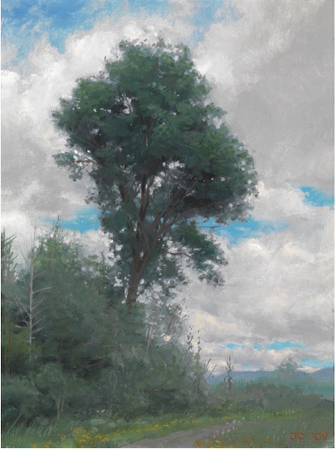 Jacob Collins, 'Maple Tree', 2009, Painting, Oil on canvas on panel, Adelson Galleries