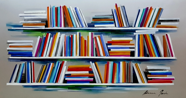 Adriana Naveh, 'Books', 2019, Painting, Oil on aluminum, covered with lacquer, Corridor Contemporary