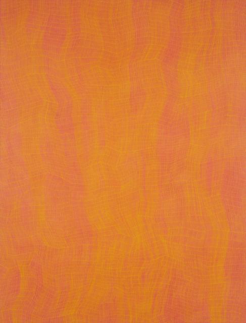 Karl Wiebke, '48-17 Yellow on Orange', 2017, Charles Nodrum Gallery