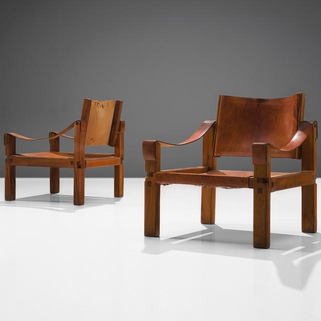 , 'Pair of Congac Leather Armchairs S10X,' ca. 1960, MORENTZ