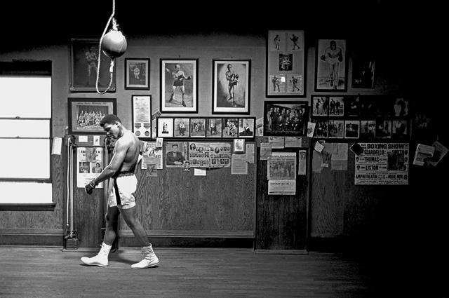 , 'Muhammad Ali Walking in Gym,' 1966, CAMERA WORK