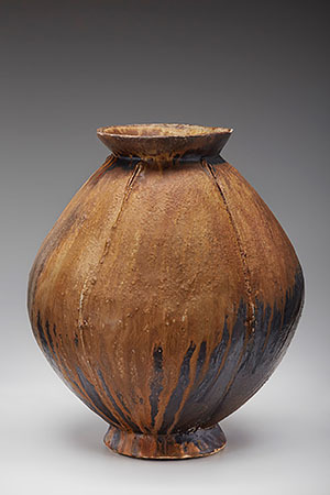 , 'Lobed vase, natural ash glaze with iron slip,' , Pucker Gallery