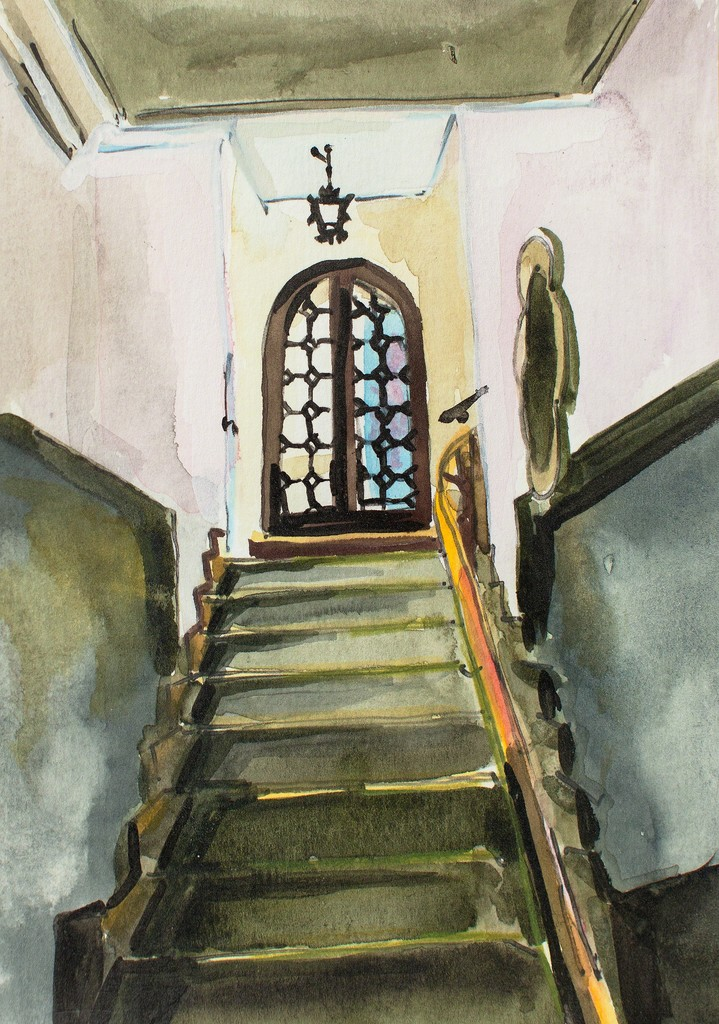 Study for Scoula Grande Stair, Venice