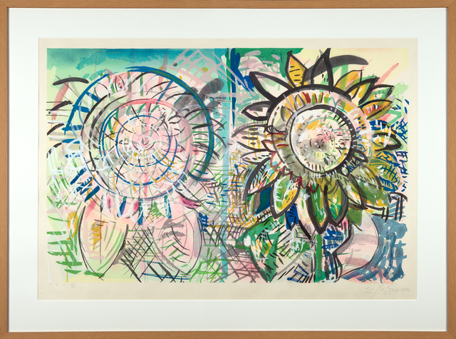 Pat Steir, 'Sunflowers', 1986, Axiom Fine Art