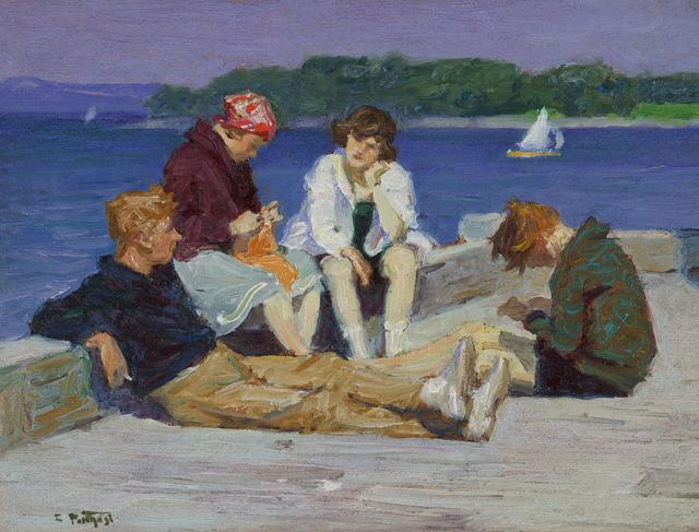 , 'Beach Scene #4,' ca. 1920, Debra Force Fine Art