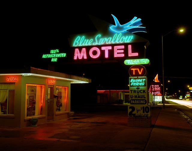 , 'Blue Swallow Motel, Hwy.66, Tucumcari, New Mexico; July, 1990,' , photo-eye Gallery