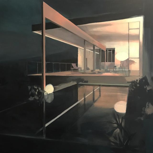 , 'La casa rosa al anochecer (the pink house at nightfall),' 2018, GALLERI RAMFJORD