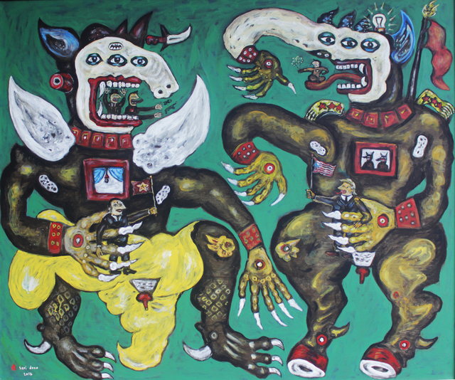 , 'Konspirasi Penjual Negara Adidaya (Trade Conspiracy of Superpower Countries),' 2017, Mizuma Art Gallery