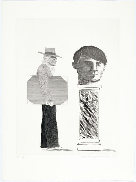 David Hockney, 'The student: homage to Picasso', 1973, Koller Auctions