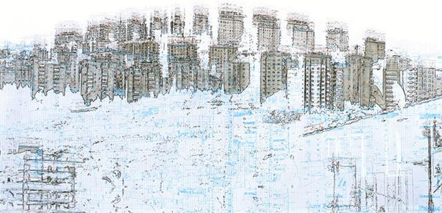 , 'Les urbanités (scène 1),' 2013, Galerie Lacerte Art Contemporain