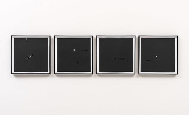 , 'Linhas e Números (I, II, III e IV) [Lines and Numbers (I, II, III and IV)],' 1970, Bergamin & Gomide