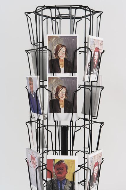 , 'Postcard display,' 2013, Galería Bacelos