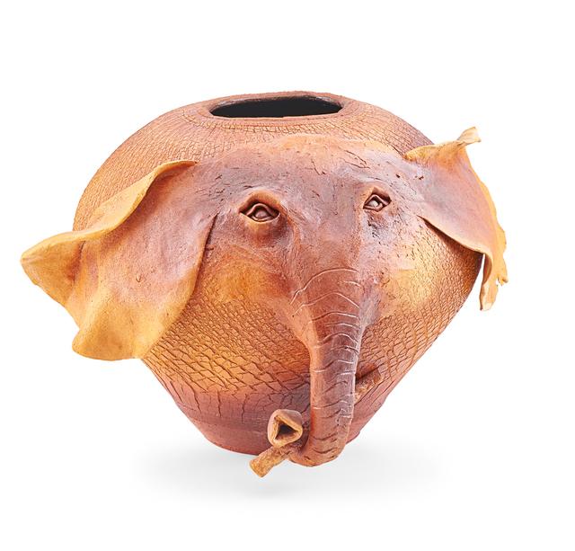 Ellen Silberlicht, 'Raku-fired ceramic elephant', Rago