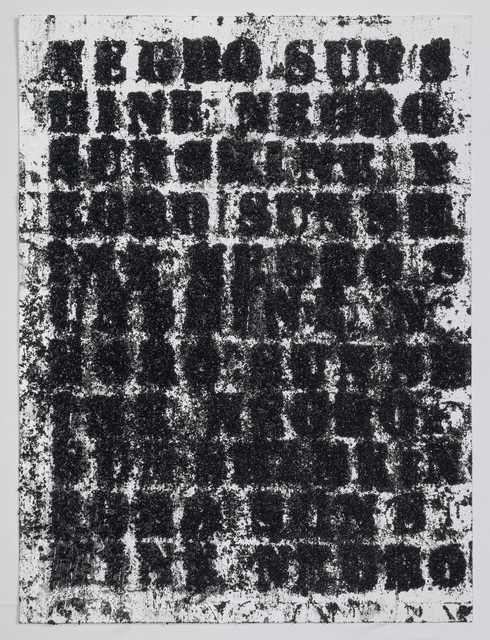 , 'Study for Negro Sunshine #57,' 2010, Luhring Augustine