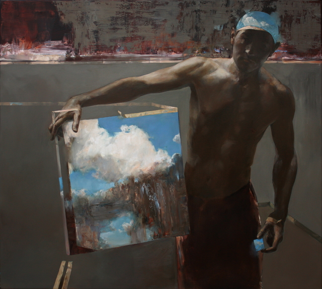 , 'Man With Clouds,' 2018, Léna & Roselli Gallery