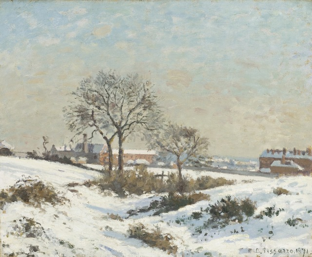 Camille Pissarro, 'Snowy Landscape at South Norwood', 1871, Los Angeles County Museum of Art
